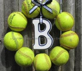 Softball Love Wreath - with letter