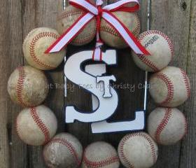 Saint Louis Cardinals Baseball Love Wreath with STL